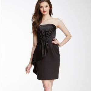 Gorgeous strapless silky cocktail dress